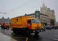 Аварийная газовой службы на шасси КамАЗ-65115 #У 537 АВ 197. Москва, Кудринская площадь