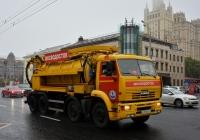 Комбинированная каналопромывочная машина ДКТ-255 на шасси КамАЗ-6540 #Е 207 МЕ 177. Москва, Кудринская площадь