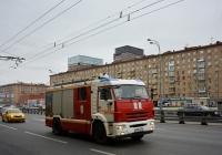 Пожарная автоцистерна АЦ-3,2-40/4(43253)-001МС на шасси КамАЗ-43253 #К 878 КА 777. Москва, Ленинградский проспект