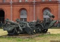 Колейный минный трал КМТ-5 и прицепной минный раскладчик ПМР-3. Санкт-Петербург, Музей артиллерии, инженерных войск и войск связи