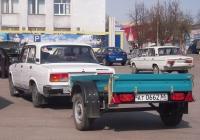 Прицеп КМЗ-8284 #АТ 0662 66 в составе автопоезда. Свердловская область, Тугулым, площадь 50 лет Октября