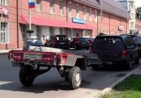 Прицеп КМЗ-8136 #АС 5326 72 в составе автопоезда. Тюмень, улица Луначарского