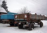 Прицеп типа 2ПТС-4 #6400 CМ 66. Свердловская область, Луговской, улица 8-марта