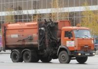 Мусоровоз МК-4454-37 (МКМ-4707) на шасси КамАЗ-65115 #А 873 ЕУ 45. Курган, улица Ленина