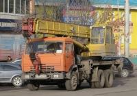 Автокран КС-45717К-1 на шасси КамАЗ-53213 #Е 403 АВ 186. Курган, улица Куйбышева