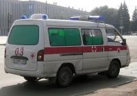 Автомобиль скорой помощи на базе Hyundai H100 #С 078 КХ 66. Екатеринбург, площадь Первой пятилетки