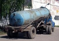 Вакуумная машина на базе автопоезда в составе тягача ЗиЛ-130* #E 137 EE 72 и полуприцепа-цементовоза ТЦ-4(С-927) #7930 ЮУ. Тюмень, ПАТП-2