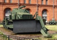 Путепрокладчик БАТ-М на базе тягача АТ-Т.  Санкт-Петербург, Музей артиллерии, инженерных войск и войск связи