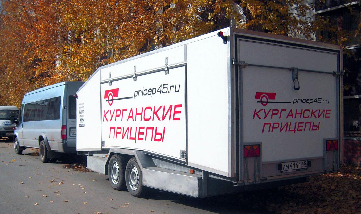Прицеп #АМ 4141 45 в составе автопоезда. Тюмень, Киевская улица