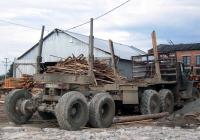Прицеп-роспуск #АТ 7190 66 в составе автопоезда-лесовоза. Свердловская область, Лосиный