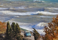 ГАЗ-52-04 #Е 139 АУ 82 на берегу Капсихора . Крым, Морское, шоссе Алушта - Феодосия