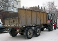 Прицеп #9922 ТХ 72 с трактором Беларус-82.1. Тюмень, улица Льва Толстого
