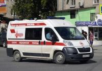 Автомобиль скорой медицинской помощи на базе Peugeot Boxer #А 025 МО 196. Екатеринбург, улица Щорса