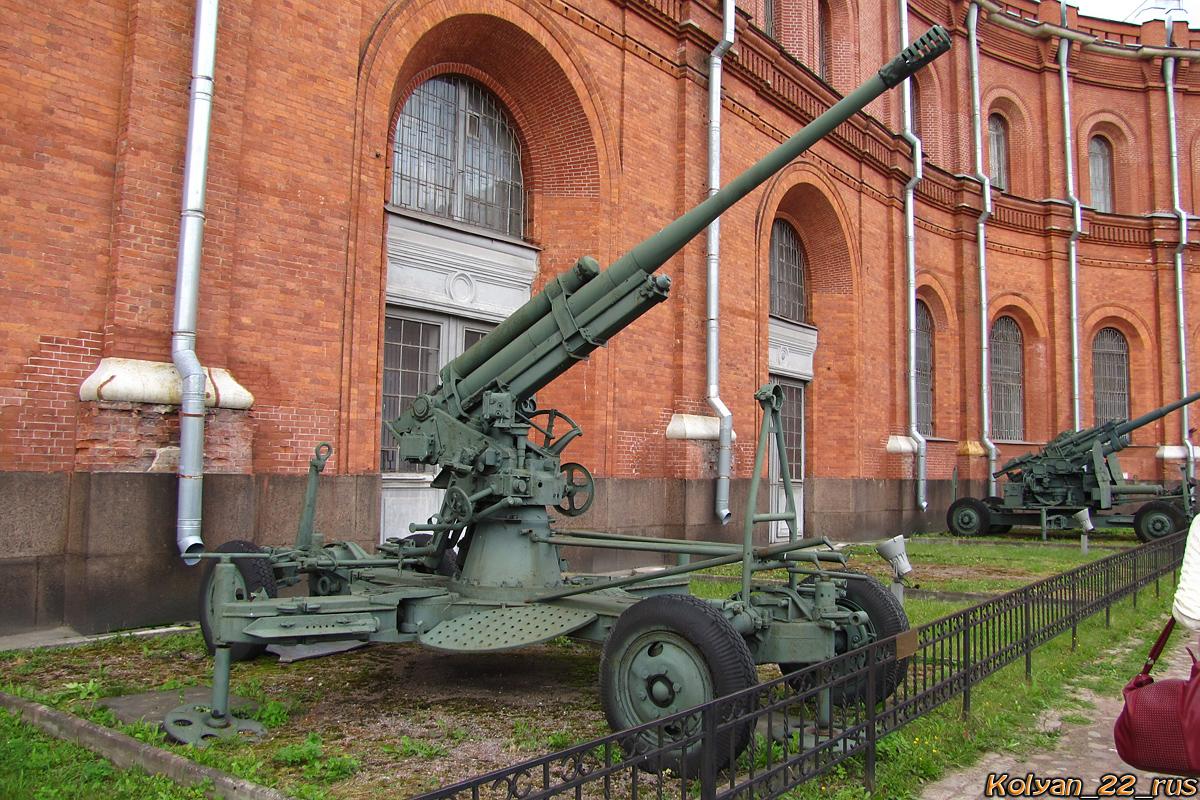 85-мм зенитная пушка 52-К.  Санкт-Петербург, Музей артиллерии, инженерных войск и войск связи