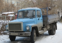 Самосвал ГАЗ-САЗ-3507-01 на шасси ГАЗ-33072 #Е 022 ВЕ 45. Курган, улица Ленина