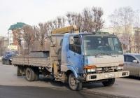 Бортовой грузовой автомобиль с КМУ Mitsubishi Fuso Fighter #Н 130 СМ 72 . Тюмень, улица 50 лет Октября