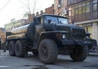 Автоцистерна для перевозки воды на шасси Урал-4320-10 #3094 УН 76. Самара, улица Молодогвардейская