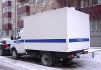"""Автозак 326041 #В 0554 72 на шасси ГАЗ-3302-288 """"Газель-Бизнес"""". Тюмень, Киевская улица"""