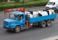 Scania 93H с КМУ #B 118 SPN. Алматы, улиуа Саина