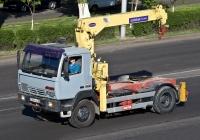 Тягач Steyr 12S18 с КМУ #266 FNA 05. Алматы, улица Саина