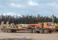 Седельный тягач Tatra T815-231N9 #М 418 ЕА 89 с полуприцепом-тяжеловозом. Сахалинская область, Ногликский район, площадка отстоя строительной техники у станции Ныш Сахалинского отделения Дальневосточной железной дороги