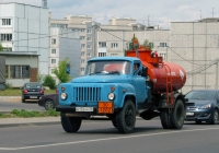 Топливная цистерна на шасси ГАЗ-53-12 #Е 805 ОР 40. Калуга, Грабцевское шоссе