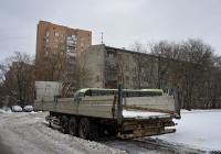 Бортовой полуприцеп #ВР 8543 50. Москва, Новопетровская улица