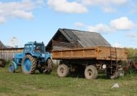 Трактор МТЗ-80 #7724 ШЯ с прицепом 2ПТС-4* #ТВ 1710. Томская область, Первомайское