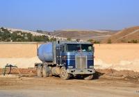 Цистерна на платформе, грузовик Kenworth K100 #85-600-00. Израиль, Хайфа