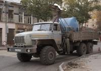 Бортовой грузовик с КМУ на шасси Урал-4320-0911-40 #Н 778 СМ 163. Самара, улица Льва Толстого