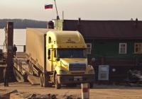 Седельный тягач Freightliner Columbia CL112 #К 675 ХК 163 . Самара, спуск улицы Лейтенанта Шмидта