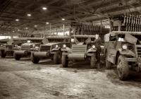Дозорно-разведывательная машина White M3A1 Scout Car, подготовка к отправке заказчику. США, штат Миннесота, Кливленд