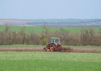 Трактор ЮМЗ-6* #08813 ВО на весенних полевых работах. Запорожская область, Ореховский район, близ с. Счастливое