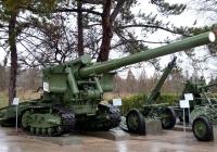 152-мм пушка Бр-2 и 160-мм миномёт МТ-13. Севастополь, Сапун-Гора