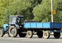 Трактор МТЗ-82.1 с прицепом. Могилёв, улица Якубовского