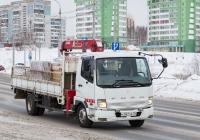Бортовой грузовик с КМУ на шасси Mitsubishi Fuso Fighter #О 062 ОВ 70. Томск, улица Клюева