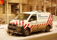 Машина сопровождения негабаритного автопоезда Volkswagen Transpoter T6 #Т252ХС163. Самара, ул. Садовая