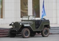 Военный автомобиль ГАЗ-67Б. Курган, Троицкая площадь