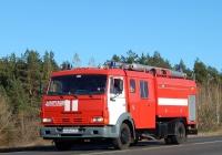Пожарная автоцистерна АЦ-3,2-40(4308)-38ВР на шасси КамАЗ-4308 # М 444 НС 31. Белгородская область, Новооскольский район, с. Подольхи