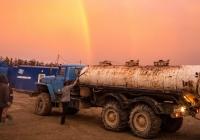 Цистерна для питьевой воды на шасси УралАЗ-4320-10. Сахалинская область, Ногликский район, вахтовый поселок Киринского ГКМ