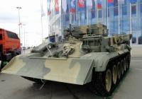 Бронированная ремонтно-эвакуационная машина БРЭМ-1 на выставке ВТТВ-Омск-2013. Омская область, город Омск, Областной экспоцентр