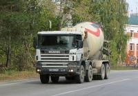 Бетоносмеситель на шасси Scania 124C #С 968 СН 154. Новосибирск, Баганская улица