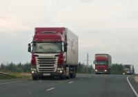 """Седельный тягач Scania R420 #Т334НХ174,б седельный тягач Renault*. Самарская область, 1019 км федеральная трасса М5 """"Урал"""""""