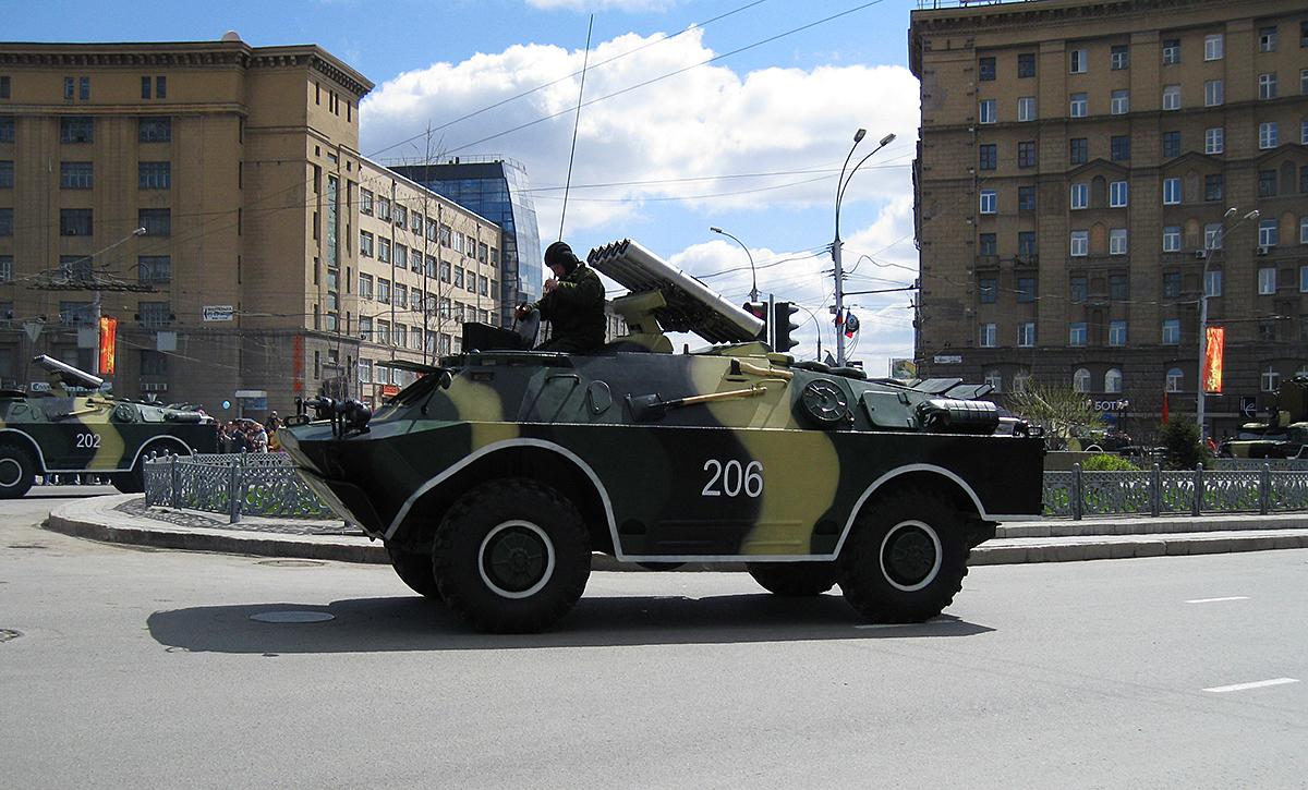 БРДМ-2. Новосибирск, Красный проспект