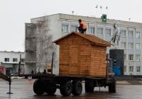 Прицеп 1ПТС-9 #1720 ЕС 31 в сцепке с трактором Т-150К. Белгородская область, г. Алексеевка, пл. Победы