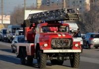 Пожарная автолестница АЛ-30(131)ПМ-506 на базе ЗиЛ-131 #В 718 СМ 55 Пожарная часть №4 г.Омска. Омская область, город Омск, улица Лукашевича
