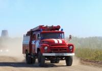 Пожарная цистерна АЦ-40(130)-63Б на шасси ЗиЛ-431412 #Е 838 УА 55, ПЧ-35, город Омск. Омская область, район 1 Кирпичного завода