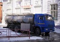 Цистерна для перевозки питьевой воды на шасси КамАЗ-65115. Самара, улица Молодогвардейская