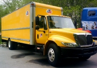 Фургон на базе International 4900 на автовыставке. Тюмень, Севастопольская улица