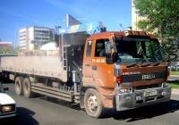 Бортовой грузовой автомобиль с КМУ Isuzu V-series #К 839 ХУ 72 . Тюмень, Профсоюзная улица